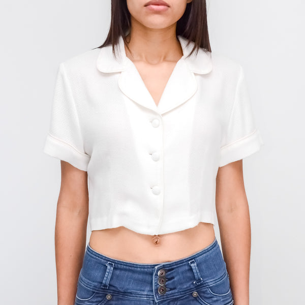 WHITE SHORT BLOUSE