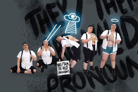Gender Evolution photo shoot - they them are valid pronouns