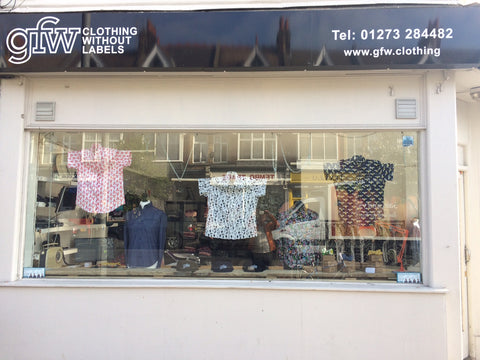 GFW Clothing shop in Portland Road Hove