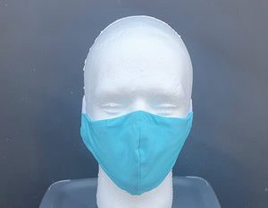 Reusable Face Covering - Aqua blue GFW Clothing