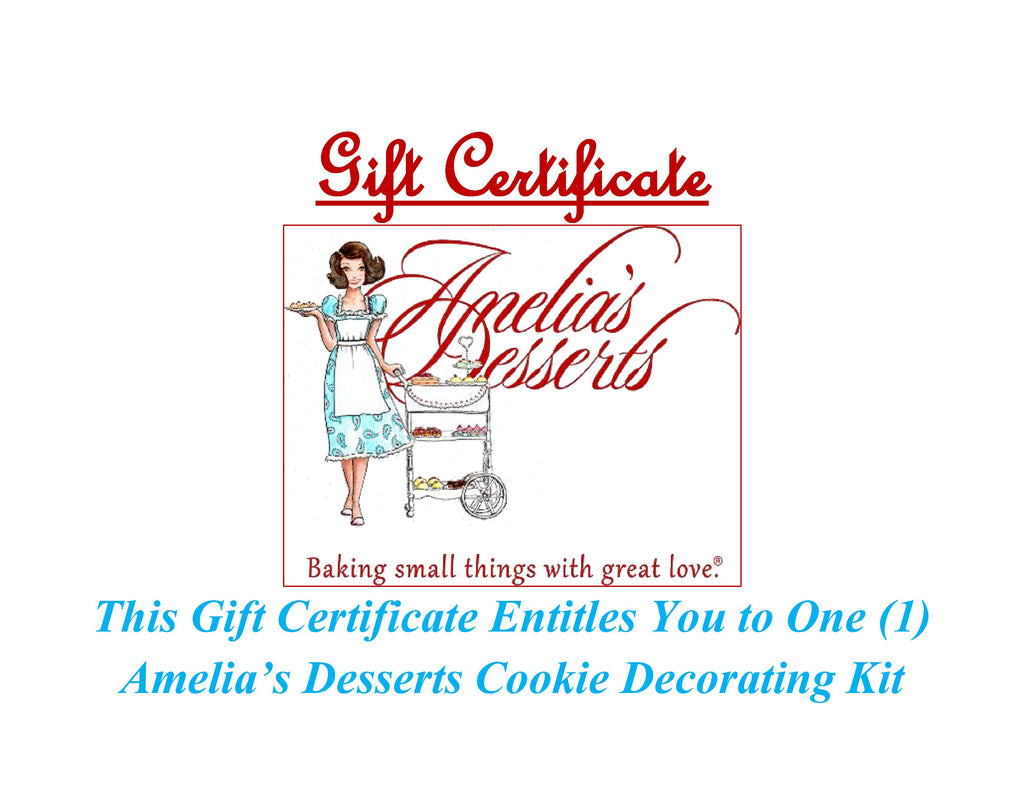 Gift Certificate - Cookie Decorating Kit