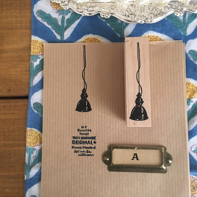 Kubominoki Rubber Stamp - Lamp C