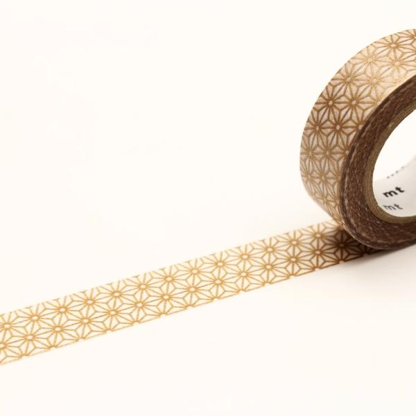 Washi Tape - Gold Asanoha