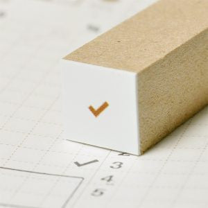 Mini Check Mark Planner Rubber Stamp