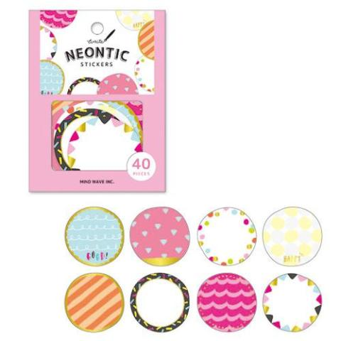 Neon Flake Stickers - Circle