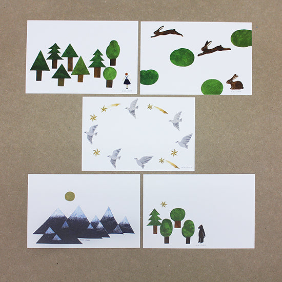 Postcard Pad - Forest