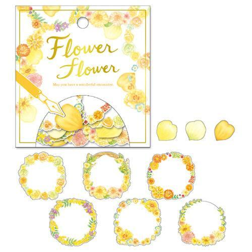 Flake Stickers - Yellow Flowers