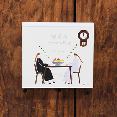 Square Memo Pad - Cafe