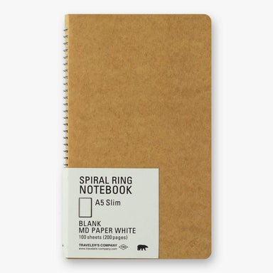 A5 Spiral Ring Notebook - Polar Bear