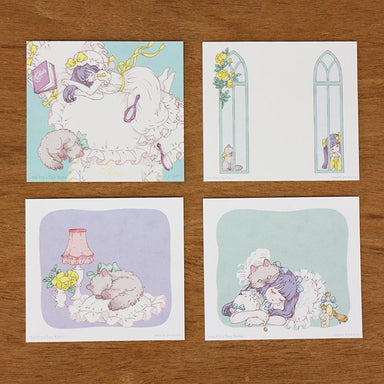 Square Memo Pad - Sweet Dream with Cat