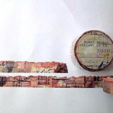 Discontinued Washi Tape - Die-cut Collage No.3