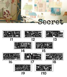 Discontinued Chamil Garden Rubber Stamp - Secret