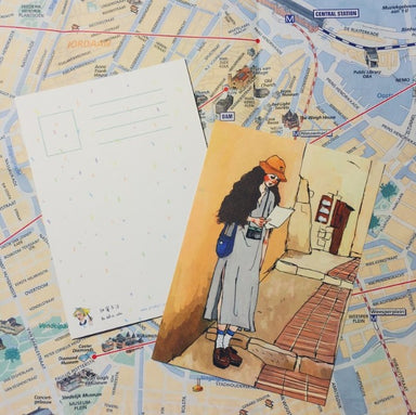 Postcard - Cartographer Girl