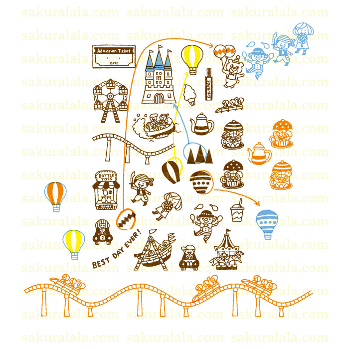 365 Clear Stamps - AMUSEMENT PARK