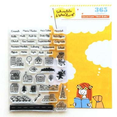 365 Clear Stamps - MY TOWN
