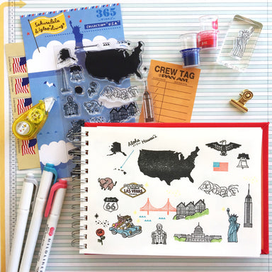 365 Clear Stamps - USA