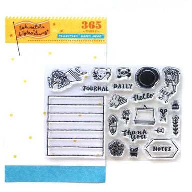 365 Clear Stamps - HAPPY MEMO