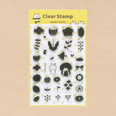 Limited Quantity Clear Stamps - Flowers