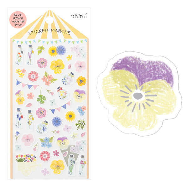 Stickers Marche - Flowers