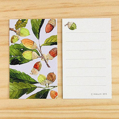 Mini Message Card - Acorn