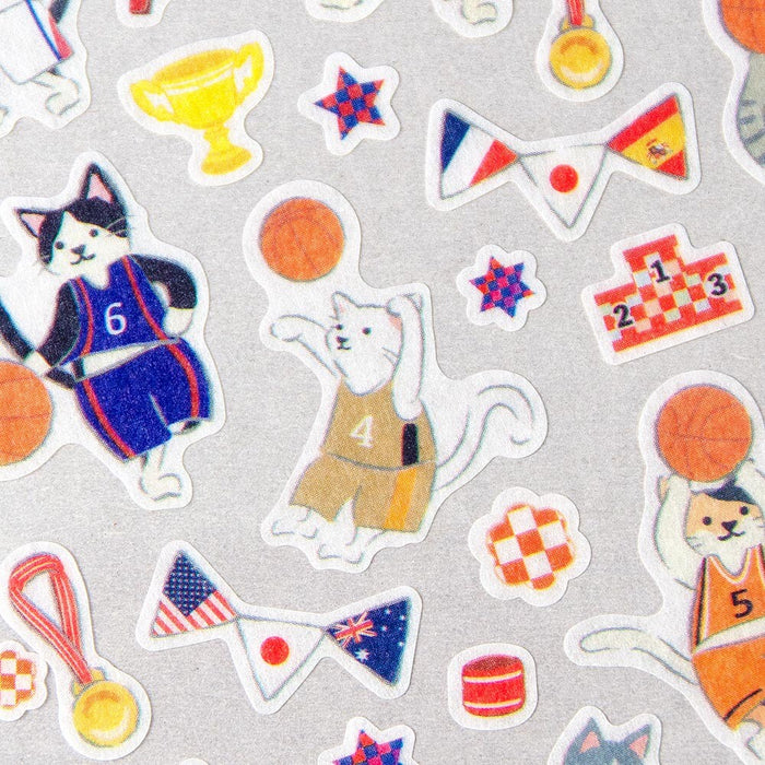 Animal Sports Stickers - Basketball