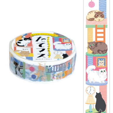 Vertivcal Washi Tape - Cat Tower
