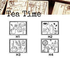 Discontinued Chamil Garden Rubber Stamp, TeaTime