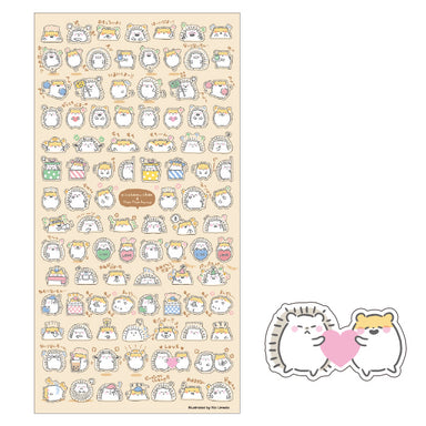 Hamster and Hedgehog Friends Stickers