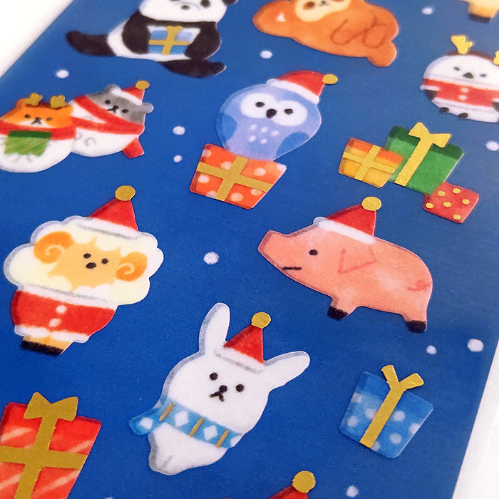 Limited Edition Stickers - Animal Santa