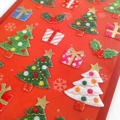 Christmas Limited Fluffy Stickers - Christmas Tree