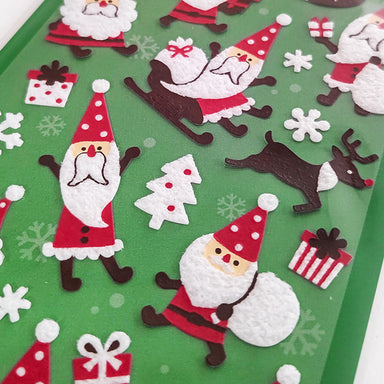 Christmas Limited Fluffy Stickers - Santa Brothers