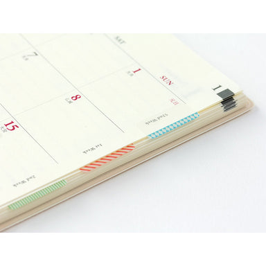 MIDORI Planner Slim Index Stickers - Color Patterns