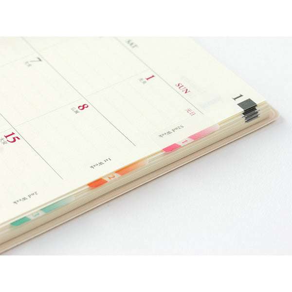 Planner Slim Index Stickers - Color Numbers