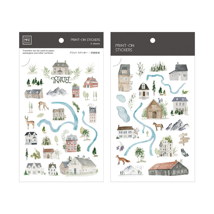 MU Print-on Stickers - Travel Map