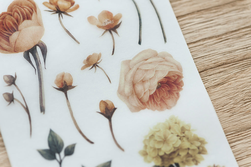 MU Print-on Stickers - Flowers