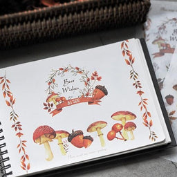 MU Print-on Stickers - Mushroom