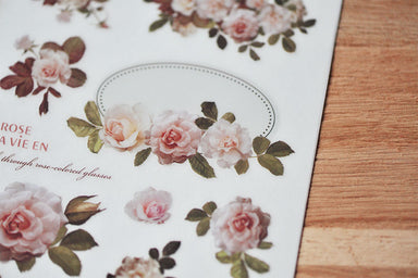 MU Print-on Stickers - Classical Roses