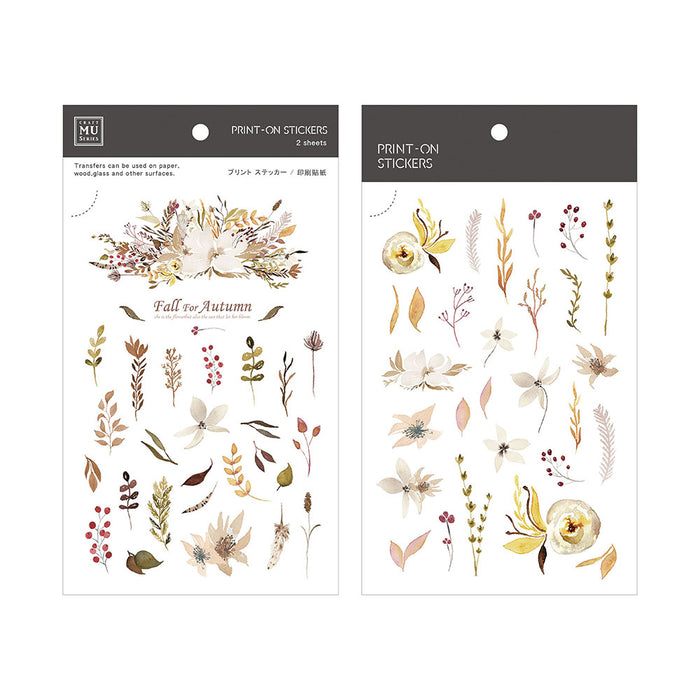 MU Print-on Stickers - Autumn Leaves