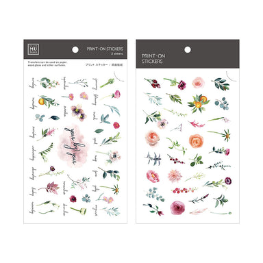 MU Print-on Stickers - Monthly Hundred Flowers