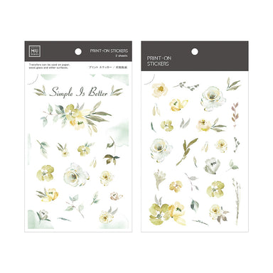 MU Print-on Stickers - Green Roses