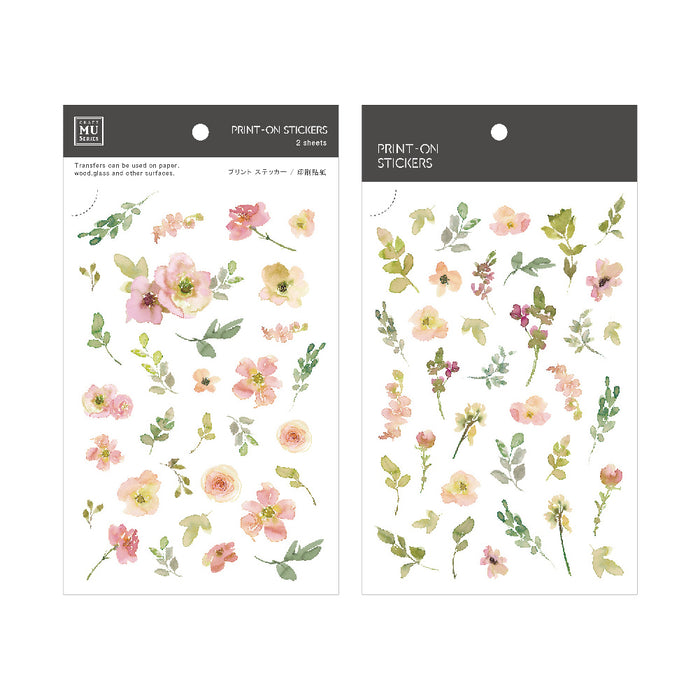 MU Print-on Stickers - Flower Field