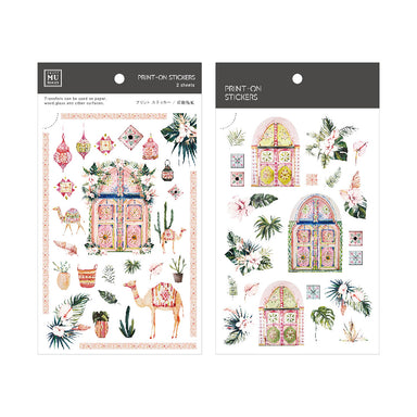 Limited Edition MU Print-on Stickers - Morocco House