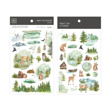 Limited Edition MU Print-on Stickers - The Fairy Tale of Green Forest