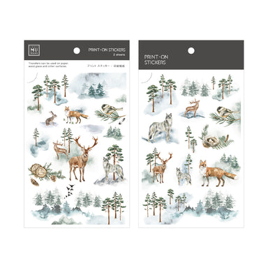 Limited Edition MU Print-on Stickers - Forest Mist