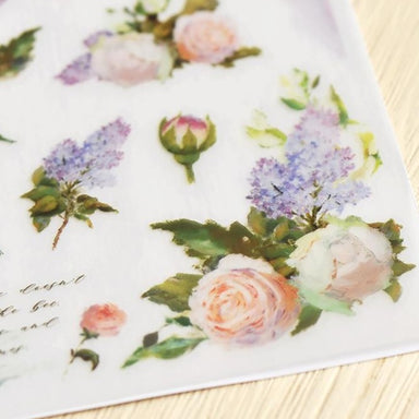MU Print-on Stickers - White Roses