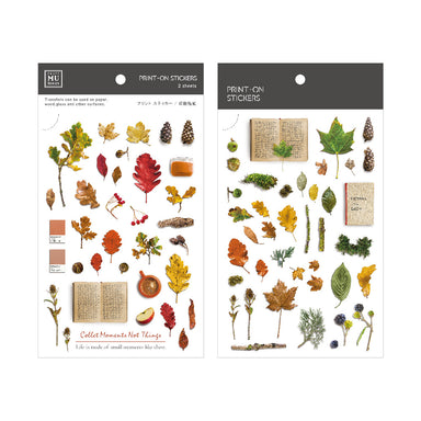 MU Print-on Stickers - Dried Leaves