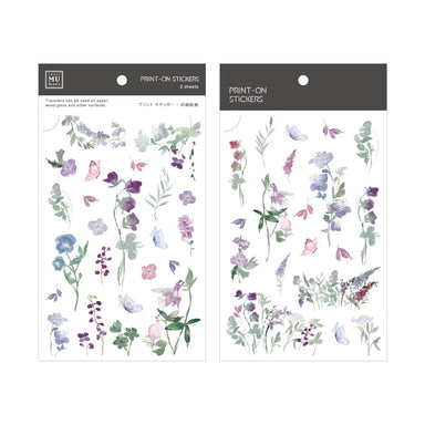 MU Print-on Stickers - Bluebell Hues