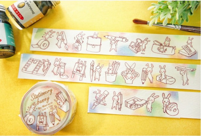 Washi Tape - Stationery Bunny