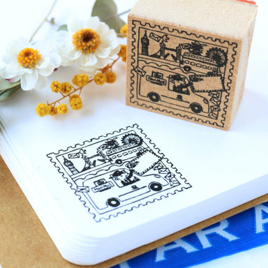 Megumi Hori Rubber Stamp - Mail Delivery