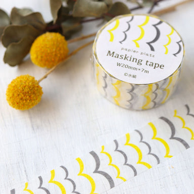 Washi Tape - Yellow Wave